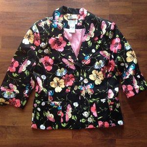 Uniform by John Paul Richard Black Floral Blazer